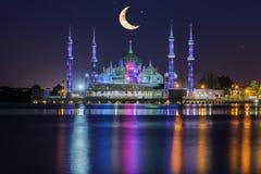 Crystal moské i Kuala Terengganu, Malaysia Arkivbilder