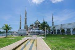 Crystal Mosque eller Masjid Kristal i Kuala Terengganu, Terengganu Royaltyfria Foton