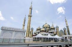 Crystal Mosque eller Masjid Kristal i Kuala Terengganu, Terengganu Royaltyfria Bilder