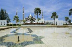 Crystal Mosque eller Masjid Kristal i Kuala Terengganu, Terengganu Arkivfoto