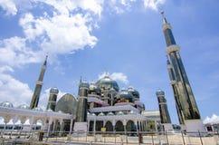 Crystal Mosque eller Masjid Kristal i Kuala Terengganu, Terengganu Royaltyfri Fotografi