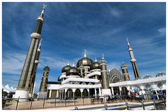 Crystal mosque. The Crystal Mosque or Masjid Kristal is a mosque in Kuala Terengganu, Terengganu, Malaysia.A grand structure made of steel, glass and crystal royalty free stock image