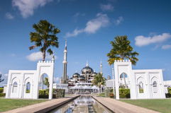Crystal Mosque On Sunny Day Royalty Free Stock Images