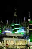 Crystal Mosque in Terengganu, Malesia alla notte Fotografia Stock