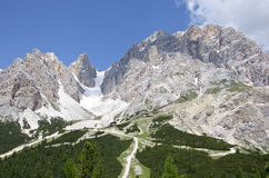 Crystal mountain. Of Dolomites, north Italy Royalty Free Stock Photography