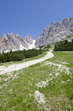 Crystal mountain. Of Dolomites, north Italy Stock Photo