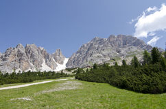 Crystal mountain. Of Dolomites, north Italy Royalty Free Stock Photo