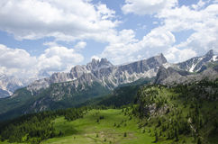 Crystal mountain. Of Dolomites, north Italy Stock Photos