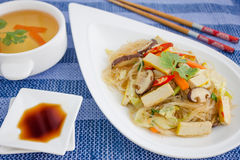 Crystal Noodles with tofu Stock Photo