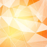 Crystal orange hi-tech modern background layout Royalty Free Stock Images