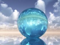 Crystal Orb. A Crystal Orb pm a heavenly horizon Stock Images