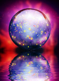 Crystal Orb. Of sparkling light Stock Photos