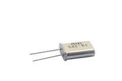 Crystal Oscillator Can. Nister against a white background Royalty Free Stock Photos
