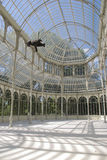 Crystal Palace. Interior of the Crystal Palace,in the park El Retiro (Madrid, Spain Stock Image