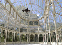 Crystal Palace. Interior of the Crystal Palace,in the park El Retiro (Madrid, Spain Stock Photo