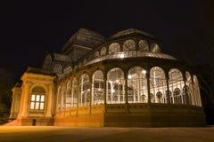 Crystal Palace alla notte Fotografia Stock