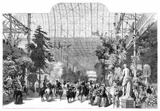 Crystal Palace as Winter Garden Stock Image