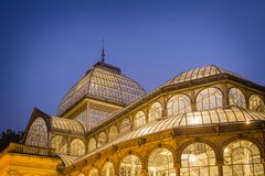 Crystal palace in Buen Retiro park, Madrid Stock Photos