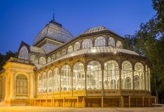 Crystal palace in Buen Retiro park, Madrid Royalty Free Stock Photo