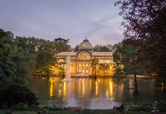 Crystal palace in Buen Retiro park, Madrid Royalty Free Stock Photography