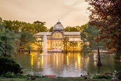 Crystal palace in Buen Retiro park, Madrid Royalty Free Stock Photos
