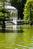 Crystal Palace (cristal Palacio de) i Retiro parkerar, Madrid, Spanien. Arkivbild