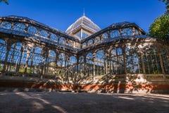 Crystal Palace (cristal Palacio de) i Retiro parkerar, Madrid, Spanien Royaltyfri Bild