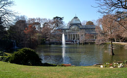 Crystal Palace in El Retiro Park in Madrid, Spain Royalty Free Stock Photography
