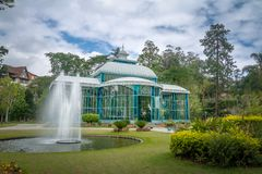 Crystal Palace eller Palacio de Cristal - Petropolis, Rio de Janeiro, Brasilien royaltyfri foto