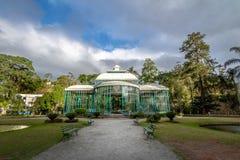 Crystal Palace eller Palacio de Cristal - Petropolis, Rio de Janeiro, Brasilien fotografering för bildbyråer