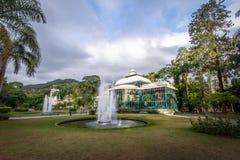 Crystal Palace eller Palacio de Cristal - Petropolis, Rio de Janeiro, Brasilien royaltyfria bilder