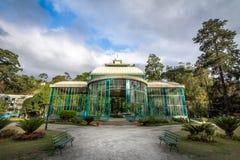 Crystal Palace eller Palacio de Cristal - Petropolis, Rio de Janeiro, Brasilien royaltyfri bild