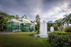 Crystal Palace eller Palacio de Cristal - Petropolis, Rio de Janeiro, Brasilien arkivfoton