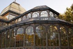 Crystal Palace en stationnement de Retiro de Madrid royal Photographie stock libre de droits