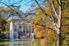Crystal Palace, het Park van Buen Retiro Madrid, Spanje Stock Fotografie