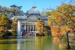 Crystal Palace, het Park van Buen Retiro Madrid, Spanje Stock Afbeelding