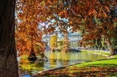 Crystal Palace, het Park van Buen Retiro Madrid, Spanje Royalty-vrije Stock Foto