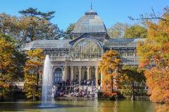Crystal Palace, het Park van Buen Retiro Madrid, Spanje Royalty-vrije Stock Afbeelding