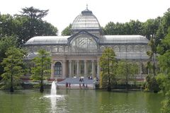 Crystal Palace - Madrid Royalty Free Stock Photography