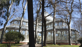 Crystal Palace in Madrid Stock Image