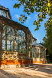 Crystal Palace at Madrid Spain Stock Image
