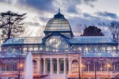 Crystal Palace no parque de Retiro no Madri, Espanha fotografia de stock