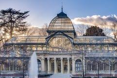 Crystal Palace på Retiro parkerar i Madrid, Spanien. Royaltyfri Fotografi