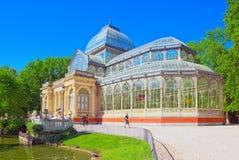 Crystal Palace Palacio de Cristal i Buen Parkera del Retiro Medeltal Royaltyfria Bilder