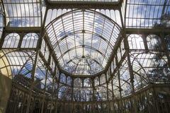 Crystal Palace (Palacio de Cristal) i Parque del Retiro i Madr Fotografering för Bildbyråer