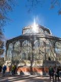 Crystal Palace Palacio de cristal no parque de Retiro, Madri, Espanha fotografia de stock royalty free