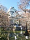 Crystal Palace Palacio de cristal no parque de Retiro, Madri, Espanha imagem de stock royalty free