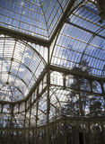 Crystal Palace (Palacio de Cristal) in Parque del Retiro in Madr Royalty Free Stock Photography