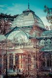 Crystal Palace (Palacio de cristal) in Retiro Park,Madrid, Spain. Stock Image