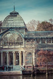 Crystal Palace (Palacio de cristal) in Retiro Park,Madrid, Spain Royalty Free Stock Photography